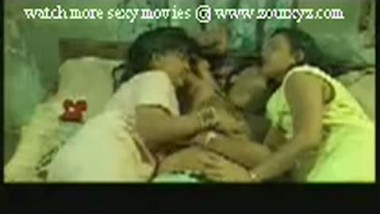 Indian college girls threesome home sex