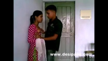 Indian lovely boobs desi girl enjoying with boyfriend in her shorts on bed