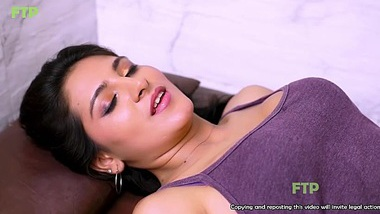 Indian college sloppy handjob and blowjob