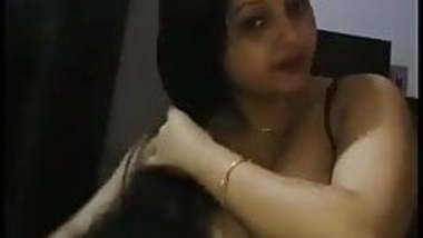 Indian girl giving sloppy BJ and gagging